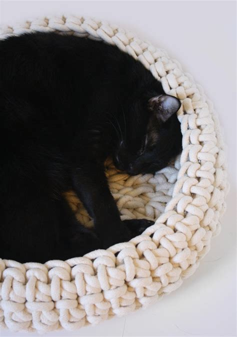 crochet cat bed large cuna crocheted cotton cat bed large size 18 quot