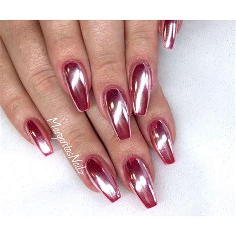 chrome nails rose chrome coffin nails nail art gallery nageldesign