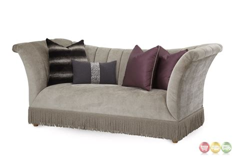 high arm sofa overture contemporary high arm bullion fringe sofa in