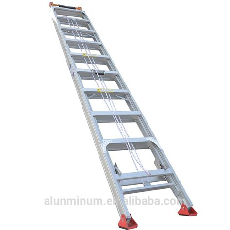 tree stand ladder sections multipurpose one section straight 7m adjustable step
