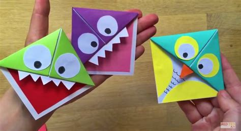 Paper Bookmarks To Make - make a paper to keep you company while you read