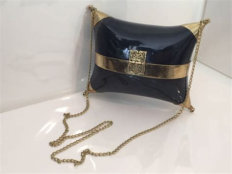 Horn Pillows by 1970s Horn And Brass Quot Pillow Quot Shaped Shoulder Bag At 1stdibs