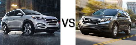 Honda Cr V Vs Hyundai Tucson 2016 Hyundai Tucson Vs Honda Cr V