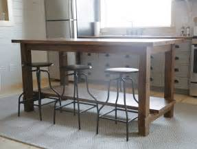 rustic kitchen island table white let s build something