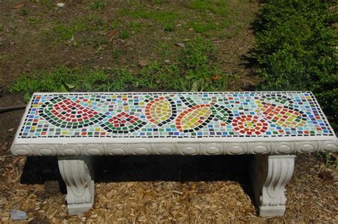 mosaic garden bench mosaic bench mosaic 1 pinterest