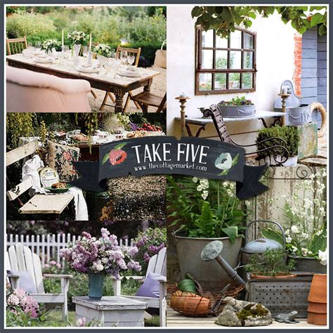 decorating backyard take five vintage outdoor decor the cottage market