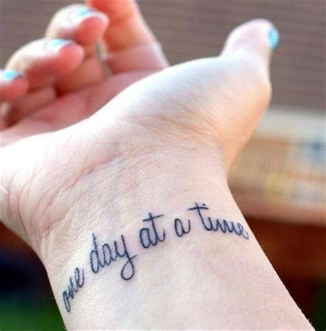 one day at a time tattoo quote one day at a time tattoomagz