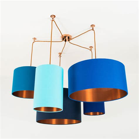 street light l shade brushed copper lined l shade 40 colours by quirk