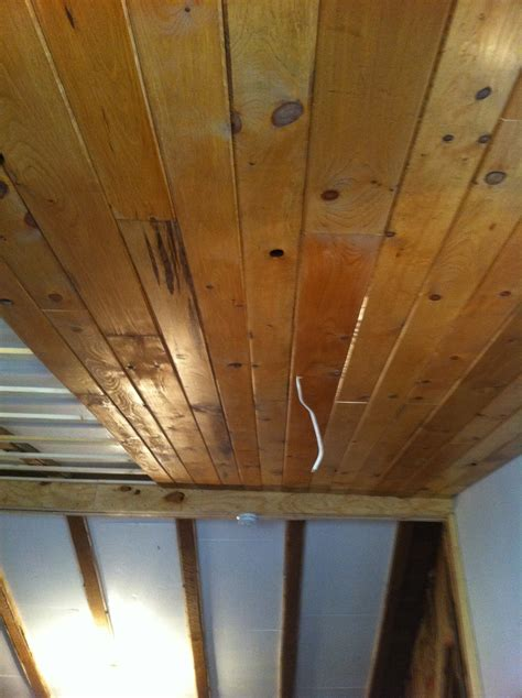 Tongue And Groove Cedar Ceiling by Once Upon A Cedar House Installing A Pine Tongue And
