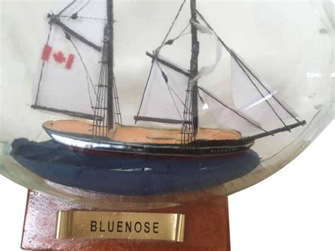 sailboat in a bottle buy bluenose sailboat in a glass bottle 7 inch model