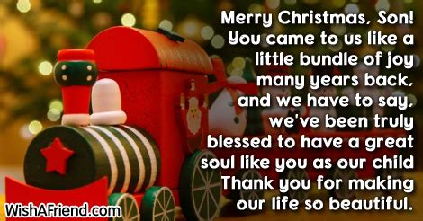 merry christmas son   christmas message  son