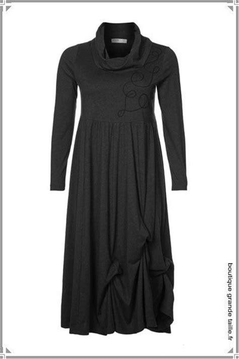 Robe Femme Ronde - robe hiver manches longues et col roul 233 en jersey fluide