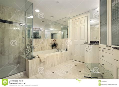 master bath with shower only master bath with glass shower stock photos image 12662683