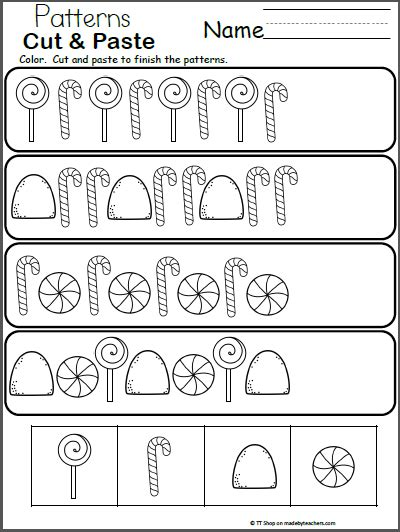 pattern worksheet cut and paste 28 cut and paste patterns worksheets for kindergarten