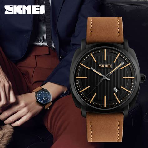 Jam Tangan Pria Black skmei jam tangan analog pria 9169 black