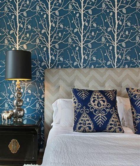 dekorieren eines blauen schlafzimmers 80 atemberaubende modelle ausgefallene tapeten archzine net