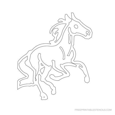 free printable horse shapes printable horse stencils free printable stencils
