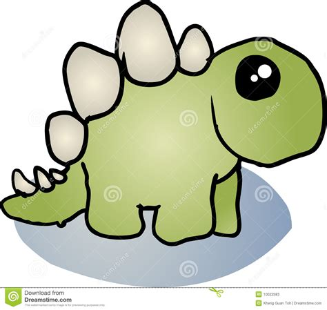 stegosaurus dinosaur cartoon stock photos image 10022583
