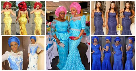 asoebi lace designs colorful aso ebi in lace 6 amillionstyles com
