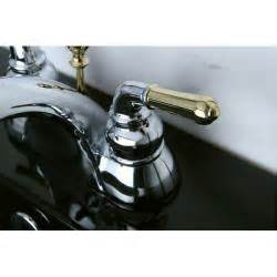 two tone chrome and brass bathroom faucet overstock