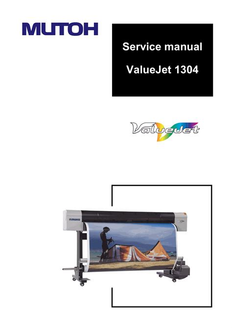 Printer Mutoh Vj 1304 mutoh valuejet vj 1304 service manual