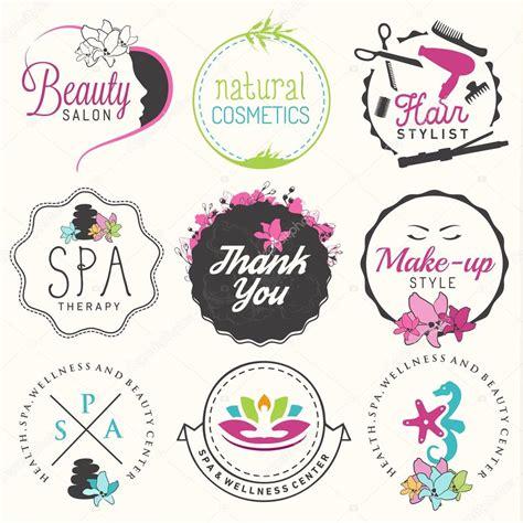 hairdresser retro design elements vector beauty salon spa and wellness design elements in vintage