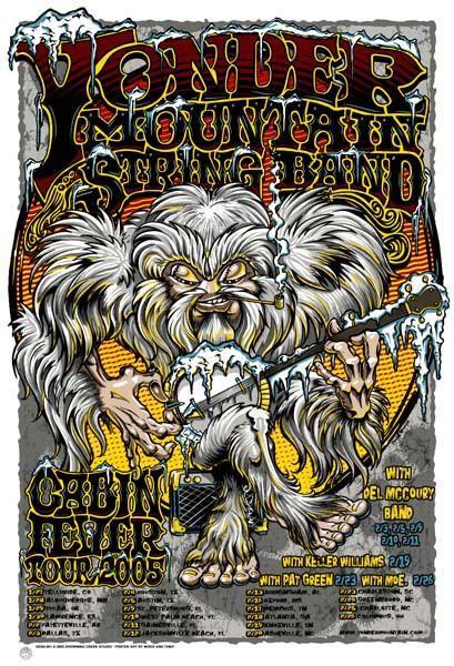 cabin fever a mountain books 2005 yonder mountain string band cabin fever tour poster