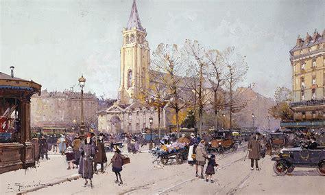 Architectural Plans Online St Germaine De Pres Painting By Eugene Galien Laloue