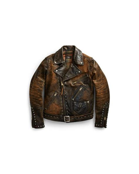 Leather Jaket Edition 102 rrl limited edition leather jacket in black for lyst