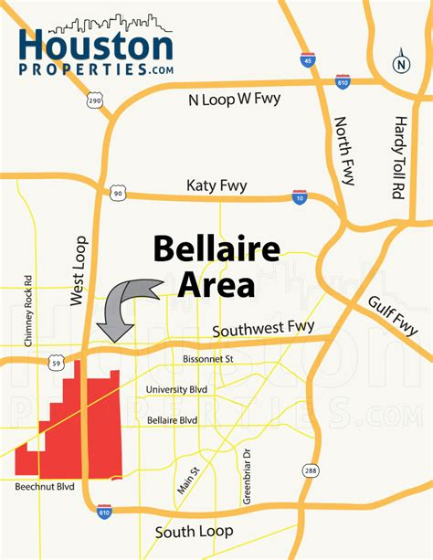 bellaire texas map martin bellaire houston map neighborhood guide