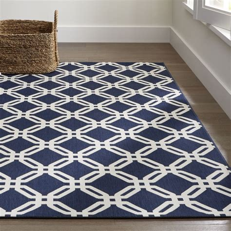 Arlo Blue Indoor Outdoor Rug Crate And Barrel Indoor Outdoor Rugs Uk