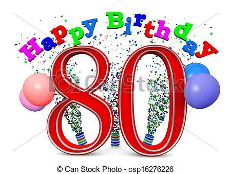 clip art of happy 80th birthday happy birthday with