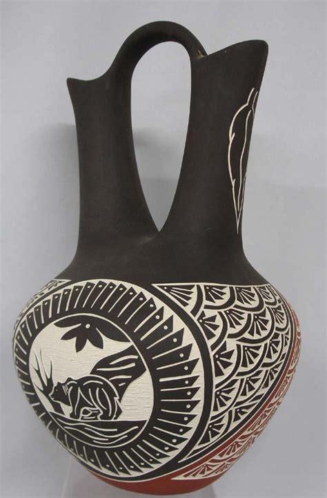 Acoma Wedding Vase by Laguna Acoma Sgraffito Wedding Vase By Pasquale
