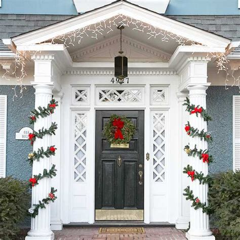 front door entrance decorating ideas 20 great christmas front door decorating ideas style