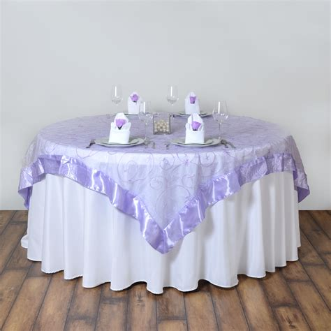 wedding table overlays 72x72 quot embroidered sheer organza table overlay unique