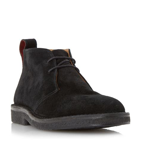 paul smith boots mens paul smith sleater classic 2 eye desert boots in black