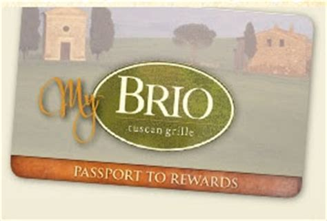 brio rewards card brio tuscan grille birthday freebies free entree during