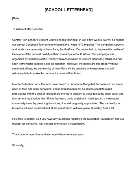 Request Letter Format For Gr Waiver Dodgeball Tournament Publicity Tools