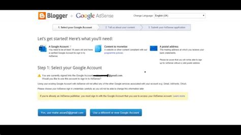 adsense link link youtube adsense account with blogger youtube