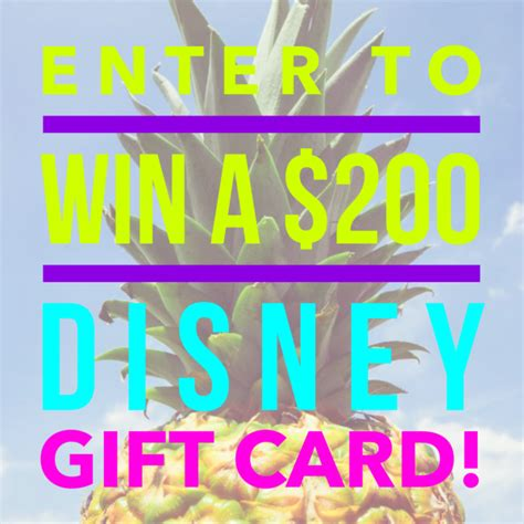 Disney Gift Card Giveaway - 200 disney gift card giveaway mommies with cents