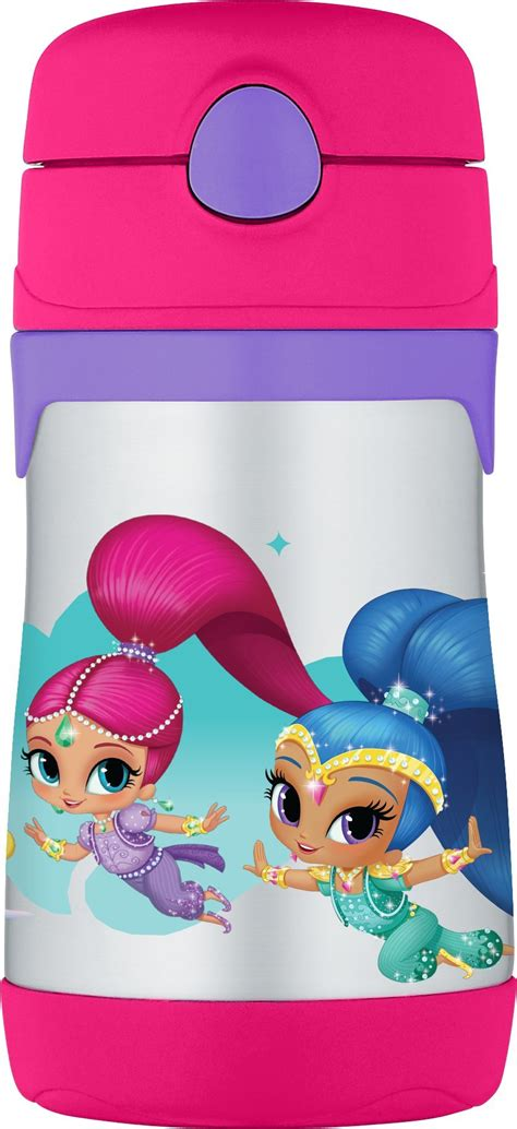 Shimmer And Shine Thermos Funtainer thermos foogo vacuum insulated stainless steel 10 ounce straw bottle blue yellow baby