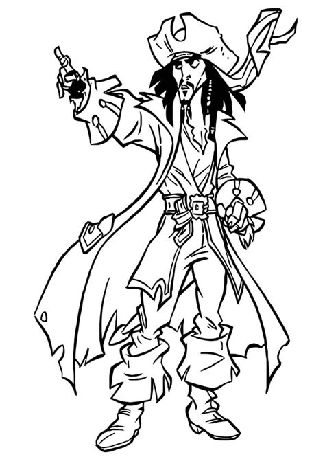pirates of the caribbean disney coloring page pirates
