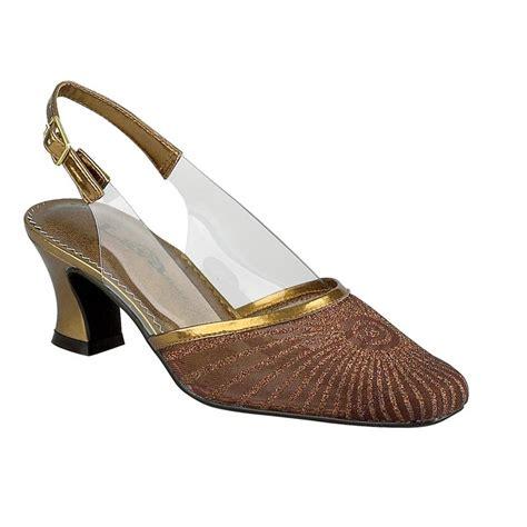 lava shoes womens harmony bronze glitter closed toe prom