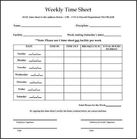 weekly paid lunch printable time sheet weekly time sheets bi weekly time sheet pdf virtuart me