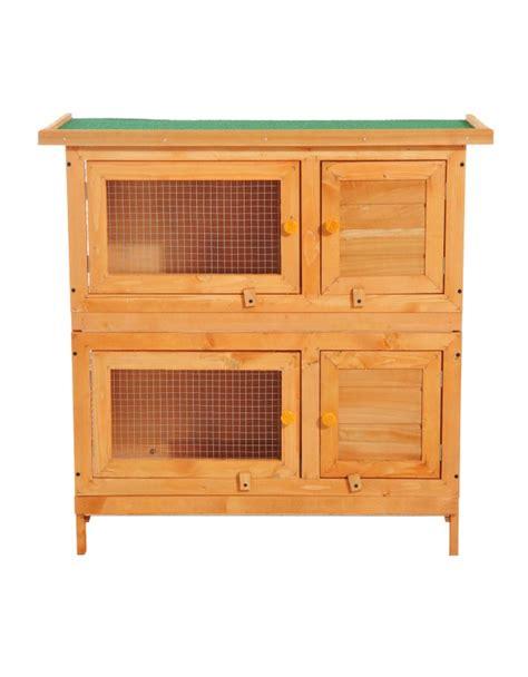 gabbie per conigli da esterno pawhut gabbia per conigli conigliera da esterno in legno