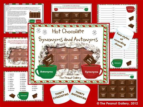 theme day synonym hot chocolate synonyms and antonyms activities hot