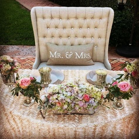 bride and groom table cute idea to have bride groom sit in one of our love
