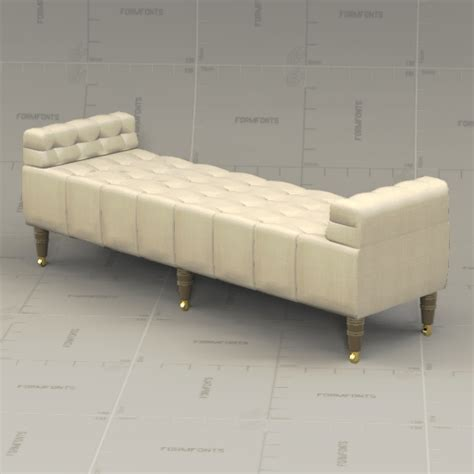 camille tufted settee rh camille tufted settee 3d model formfonts 3d models