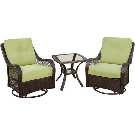 Patio Lounge Sets by Hanover Orleans 3 Patio Lounge Set With Avocado