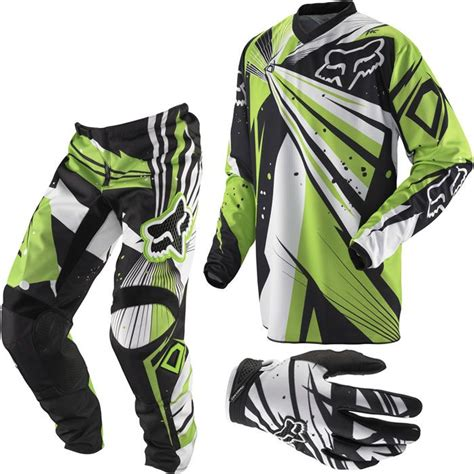 green motocross gear 2012 fox racing youth hc 180 combo undertow black green